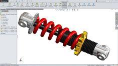 Solidworks tutorial   sketch Shock absorber in Solidworks