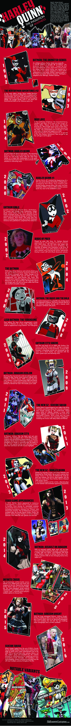 #HarleyQuinn Evolution of Madness #infographic #Entertainment