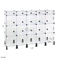 Balcão de Atendimento Modulado Vidro 150x110x030 - Balcãonet