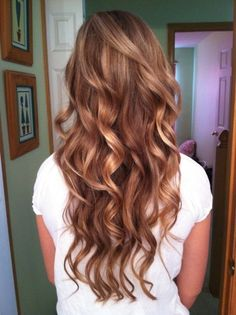 Curly light brown hair
