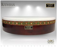 NobleWares Image of 20 inch x 4 inch Pro Tunable Bodhran with Straight Bar 20BBPTS by Bridget Drum Company of Canada