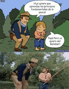 Hijo quiero que aprendas los principios fundamentales de la pesca