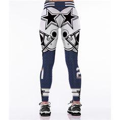 Rodeo Outfits, Cowboy Outfits, Slim Hips, Warm Leggings, Badass Style, Sport Fashion, Fitness Fashion, Dallas Cowboys, Printed Leggings