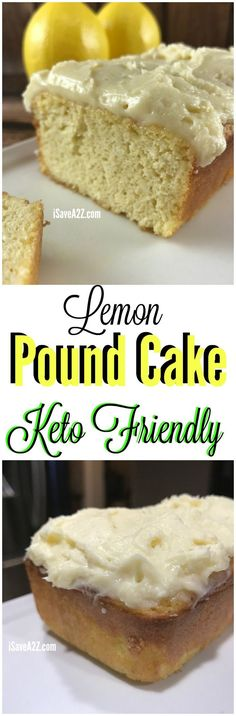 Low Carb Lemon Pound Cake Keto Friendly Recipe I am in love with this Low Carb Lemon Pound Cake Keto Friendly Recipe! Seriously, it's hard to tell it's low carb when you compare it to the regular…More Guilt Free Keto Diet Friendly Dessert Ideas Desserts Keto, Keto Snacks, Dessert Recipes, Atkins Desserts, Recipes Dinner, Soup Recipes, Low Carb Deserts, Low Carb Sweets, Keto Cake