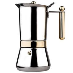Vev-Vigano Vespress Oro Stainless Steel Stovetop Espresso Maker Love this thing! Best Espresso Machine, Cappuccino Machine, Espresso Maker, Espresso Cups, Coffee Machine, Coffee Maker Reviews, Best Coffee Maker, Coffee Accessories, Italian Coffee