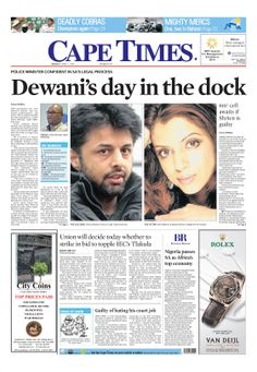 News making headlines: Dewani D Day in the dock