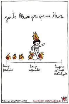 Cerati - amor amarillo - Gabi Rubi - ilustracion - gabirubi - dibujo - fuego - incendio - manual para traducir el fuego - llamas - tiempo
