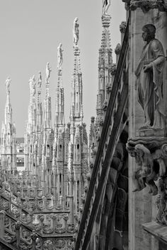 Santa Maria Nascente, Duomo di Milano, Italy.. My travels. I like the juxtaposition of ancient structures and modern interiors.