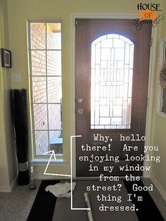 frosting windows with contact paper.. you can also use glass paint in frosted or colors from the craft store . I frosted my large glass panels to perfect privacy that allows light in .