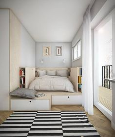 Bedroom Design Ideas for Small Rooms 2019 . 43 Elegant Bedroom Design Ideas for Small Rooms 2019 . 42 New Bedroom Decorating Ideas for Small Spaces Tiny Bedroom Design, Small Room Design, Tiny House Design, Interior Design Ideas For Small Spaces, Minimalist Home Decor, Minimalist Bedroom, Small Bedroom Storage, Bedroom Small, Tiny Bedrooms