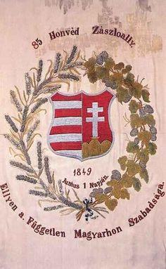 A 85 honvédzászlóalj zászlaja - 1848–49-es honvédsereg – Wikipédia Hungary History, Austrian Empire, Disney World Vacation, Budapest Hungary, Coat Of Arms, Flag, 1, Culture, Country