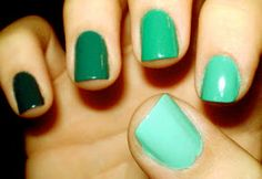 Bows and Pearls: Ombre Nails... quite trendy i think!