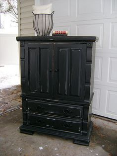 Black distressed furniture