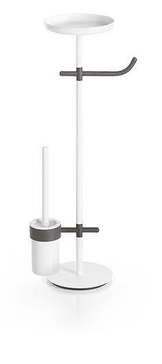 Toilet brush and towel bathroom holder - Lineabeta