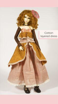 Yalki Palki Bespoke clothing for Ball Jointed Dolls Open for commissions Bespoke Clothing, Ball Jointed Dolls, Layers, Disney Princess, Cotton, Clothes, Dresses, Layering, Tall Clothing