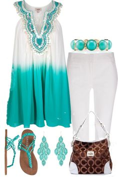Beautiful turquoise motif for Spring and Summer