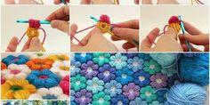 Craft a Pretty Flower Crochet Blanket | www.ladylifehacks.com