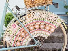 Bicycle Skirt Guard Crochet Pattern by Messyla on Etsy