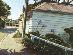 Michael McCormack paints garages and agapanthas