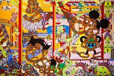Art Hong Kong 2011 – Keiichi Tanaami @ Nanzuka Underground: Japanese pop artist Keiichi Tanaam recently presented a new series of works for Art Hong Kong Keiichi Tanaami, Tadanori Yokoo, Artist Profile, Japan Art, Art Forms, Artsy Fartsy, Psychedelic, Hong Kong, Japanese