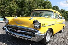 1957 Chevy Bel Air in Yellow by John Telfer