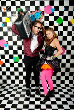 Throw a Halloween party 80's style! And look no further than your nearest Goodwill store for lots of your DIY costume and party supplies! www.goodwillvalleys.com/shop/
