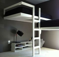 loft beds | Contemporary loft beds designed by Design Fab . Look at the space they ...