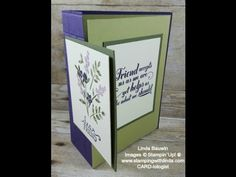 www.stampingwithlinda.com - Aother creative fold card this time a double fold - https://youtu.be/vRiI6DIsWh0