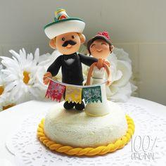 Custom+Wedding+Cake+Topper+Mexican+Fiesta+Theme+by+100original,+$120.00