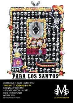 Day of the Dead ART exhibition Melbourne MSG Gallery 1 November 2012. Celebrating the arts of Mexico's Days of the Dead
