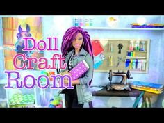 How to Make a Doll Room in a Box: Craft Room - Doll Crafts - YouTube