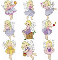 """""""Angel Girls"""" comes with 10 cute girls  with butterfly-like wings perfect for stitching onto a quilt for that  special little girl in your life. Select from 3 available hoop sizes!"""