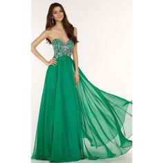 Alyce 6682 Wedding Guest Dress Long Strapless Sleeveless (€615) ❤ liked on Polyvore featuring dresses, envy green, formal dresses, long dresses, fit and flare cocktail dress, evening dresses, strapless cocktail dresses and long green dress