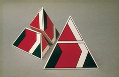 Glenys Barton: Pyramid I No. 2 1972 Edition of 6 Photographer: Frank Thirston Pyramid Scheme, Modular Design, 3d Projects, Diy Paper, Fractals, Objects, Fine Art, Architecture, Gallery
