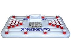 Party Barge Floating Beer Pong Table with Cooler #LavaHot http://www.lavahotdeals.com/us/cheap/party-barge-floating-beer-pong-table-cooler/123585