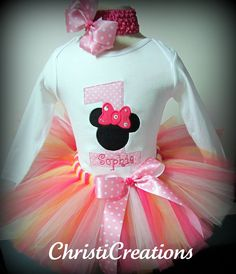 Minnie+Mouse+Inspired+1st+Birthday+Custom+Made+by+ChristiCreations,+$55.00