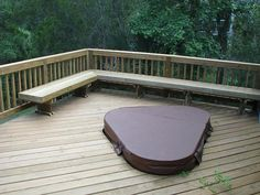 Wood Deck with Hot Tub Support in Mt Pleasant, SC