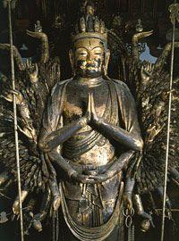 Thousand-armed Avalokitesvara (8c.), Toshodaiji Temple, Nara
