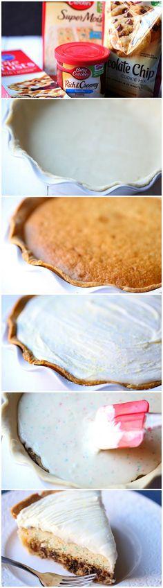 #KatieSheaDesign ♡❤ Cookie Cake Pie #bettycrocker #pillsbury #FCpinpartners