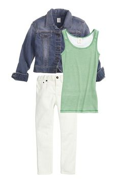 Tucker + Tate Tank Top, Jacket & Skinny Jeans (Big Girls)  available at #Nordstrom