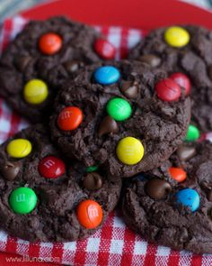 Chocolate Chip M&M Cake Cookies. These   are like all my favorite things in one.
