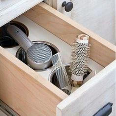 Ideas para guardar el secador y la plancha   Decorar tu casa es facilisimo.com