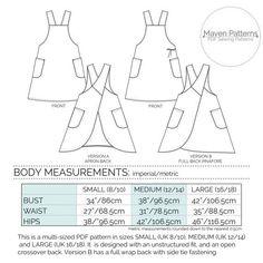 THE MARIA WRAP APRON | The Maria Wrap Apron is a PDF sewing pattern by Maven Patterns.