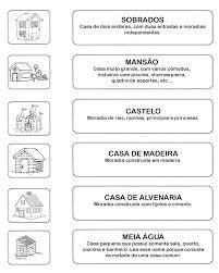 Resultado de imagem para atividade tipos de casa