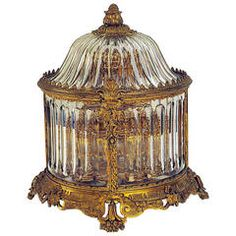 Carousel Crystal Tantalus Attributed to Baccarat, France, circa 1890