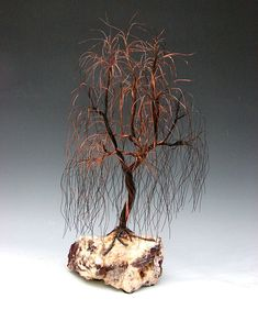 Weeping willow Recycled Copper wire tree by WireTreeSculpture, $180.00
