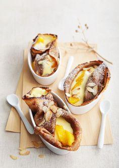 Gebackene Crêpes mit Vanillecreme - smarter - Zeit: 25 Min. | eatsmarter.de