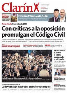 8 de octubre - Clarín - Semáforo rojo para la oposición