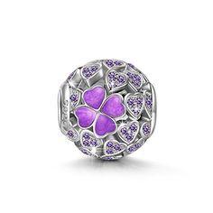NinaQueen Lucky Clover 925 Sterling Silver Heart Shape Op... Diamond Buying guide www.diamondproguide.com