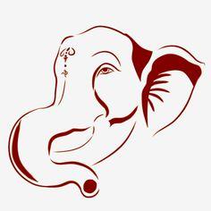 Ganesha Sketch, Ganesha Drawing, Ganesha Tattoo, Ganesha Painting, Ganesha Art, Lord Ganesha, Ganesh Images, Ganesha Pictures, Stencil Patterns